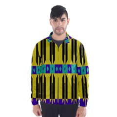 Rhombus and other shapes pattern Wind Breaker (Men)