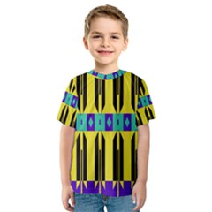 Rhombus and other shapes pattern Kid s Sport Mesh Tee