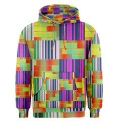 Vertical And Horizontal Stripes Men s Pullover Hoodie