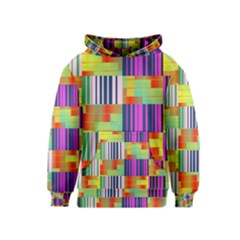 Vertical And Horizontal Stripes Kid s Pullover Hoodie