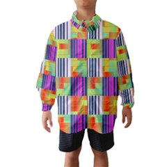 Vertical and horizontal stripes Wind Breaker (Kids)