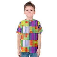 Vertical and horizontal stripes Kid s Cotton Tee