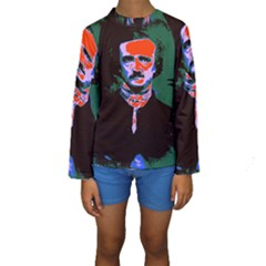 Edgar Allan Poe Pop Art  Kid s Long Sleeve Swimwear