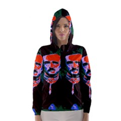 Edgar Allan Poe Pop Art  Hooded Wind Breaker (Women)