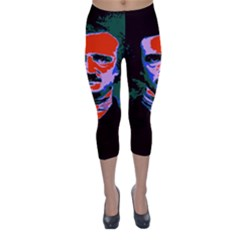 Edgar Allan Poe Pop Art  Capri Winter Leggings