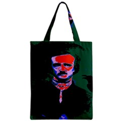 Edgar Allan Poe Pop Art  Zipper Classic Tote Bags