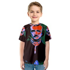 Edgar Allan Poe Pop Art  Kid s Sport Mesh Tee