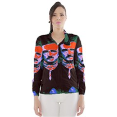 Edgar Allan Poe Pop Art  Wind Breaker (women)
