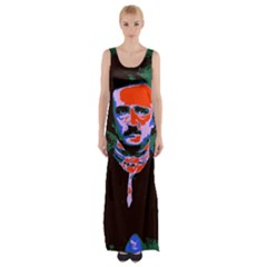 Edgar Allan Poe Pop Art  Maxi Thigh Split Dress