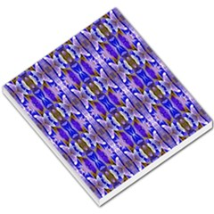 Blue White Abstract Flower Pattern Small Memo Pads