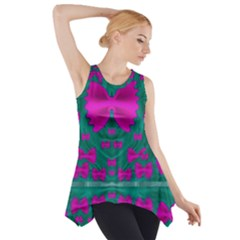 World Wide Flying Butterflies Side Drop Tank Tunic