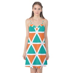 Orange Green Triangles Pattern Camis Nightgown