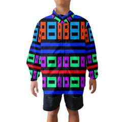 Rectangles and stripes Wind Breaker (Kids)