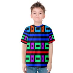 Rectangles and stripes Kid s Cotton Tee