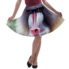 5000x5000 Mandrill Centred A-line Skater Skirt