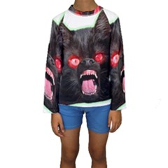 5000x5000 Menacuddle Monster No Text Kid s Long Sleeve Swimwear