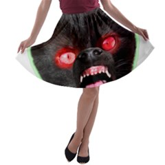 5000x5000 Menacuddle Monster No Text A-line Skater Skirt