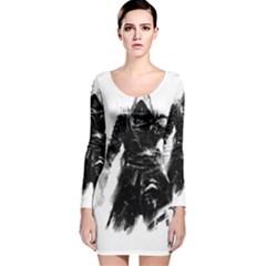 Assassins Creed Black Flag Long Sleeve Velvet Bodycon Dress