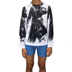 Assassins Creed Black Flag Tshirt Kid s Long Sleeve Swimwear