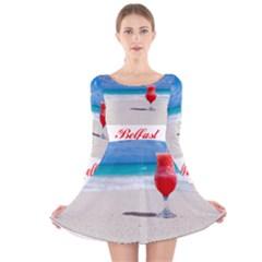 5000x5000 Belfast Long Sleeve Velvet Skater Dress