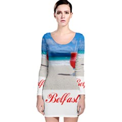 5000x5000 Belfast Shortened Long Sleeve Velvet Bodycon Dress