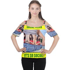 5000x5000 Social Media Z Haslem Women s Cutout Shoulder Tee