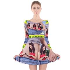 5000x5000 Social Media Z Haslem Long Sleeve Velvet Skater Dress