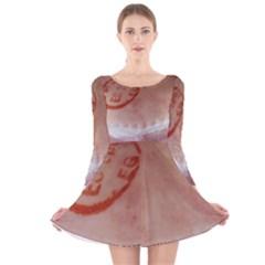 Pork Skin Long Sleeve Velvet Skater Dress