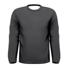 Carbon Fiber Graphite Grey And Black Woven Steel Pattern Men s Long Sleeve Tee