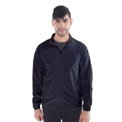 Carbon Fiber Graphite Grey And Black Woven Steel Pattern Wind Breaker (men)