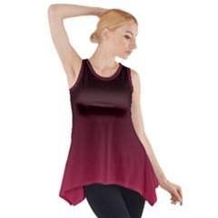 Blackmaroon2 Side Drop Tank Tunic
