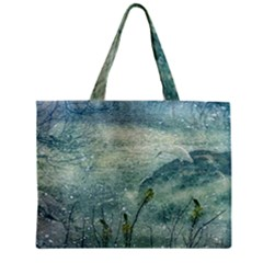Nature Photo Collage Zipper Tiny Tote Bags