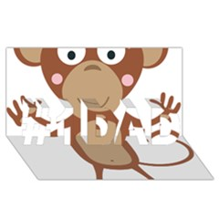 Female Monkey With Flower #1 Dad 3d Greeting Card (8x4)