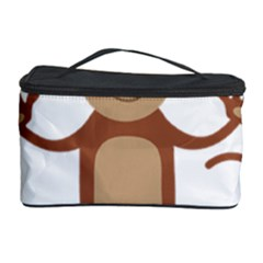 Female Monkey With Flower Cosmetic Storage Cases