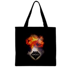 BlackDiamond - Quotation Zipper Grocery Tote Bags