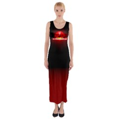 MaoMing Logo Fitted Maxi Dress