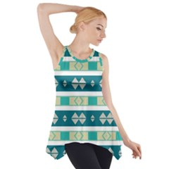 Rhombus and stripes Side Drop Tank Tunic
