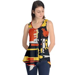 Distorted shapes in retro colors Sleeveless Tunic