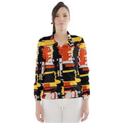 Distorted shapes in retro colors Wind Breaker (Women)