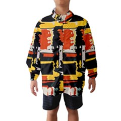 Distorted shapes in retro colors Wind Breaker (Kids)