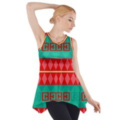 Rhombus stripes and other shapes Side Drop Tank Tunic