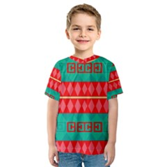 Rhombus Stripes And Other Shapes Kid s Sport Mesh Tee