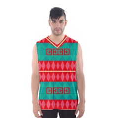 Rhombus stripes and other shapes Men s Basketball Tank Top