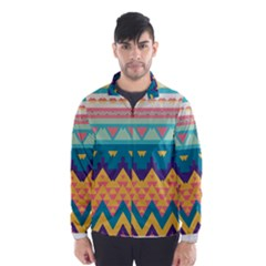 Pastel tribal design Wind Breaker (Men)