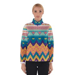 Pastel tribal design Winter Jacket