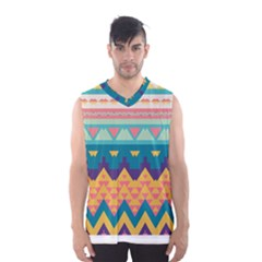 Pastel Tribal Design Men s Basketball Tank Top