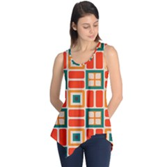 Squares and rectangles in retro colors Sleeveless Tunic