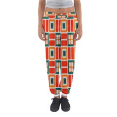 Squares And Rectangles In Retro Colors Women s Jogger Sweatpants