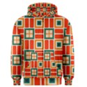 Squares and rectangles in retro colors Men s Zipper Hoodie View1