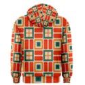 Squares and rectangles in retro colors Men s Zipper Hoodie View2